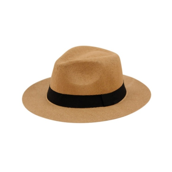 8d698294 Accessories | Unisex Brown Paper Straw Panama Hat | Poshmark